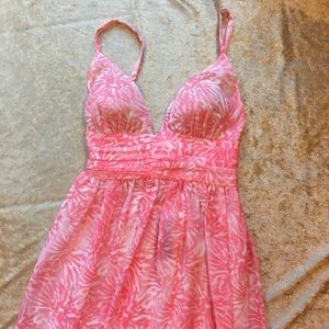 Victoria's Secret Coral Chiffon Maxi Dress NWOT XS