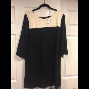 2 tone cream and black dress