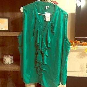 NWT Green Blouse. 26/28