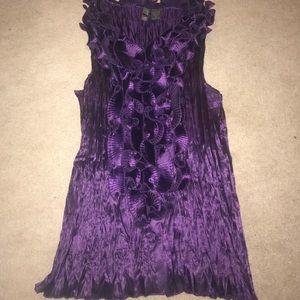Silk purple top