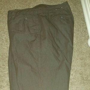 Denim - New brown denim crop pants