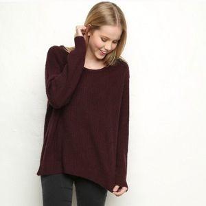 Like new Brandy Melville burgundy sweater