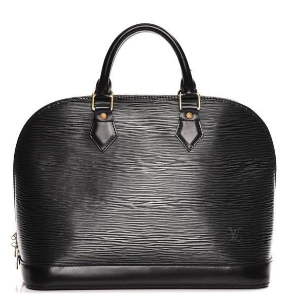 6123e94cb12d Louis Vuitton Epi Alma PM Noir