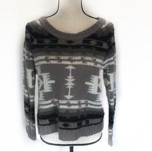 Roxy Santa Fe Aztec Sweater Southwest Boho Chic