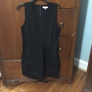 Black defined waist madewell dress