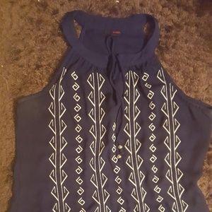Blue ladies tank top