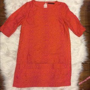 Zara basic midi dress animal print size large