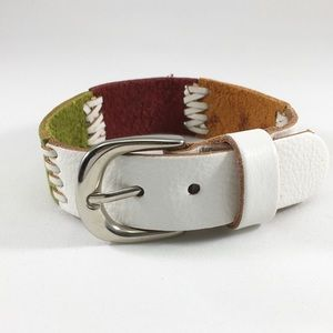 Leather Multi Color Bracelet Buckle Closure