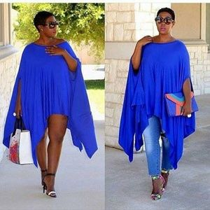 Oversized drape top