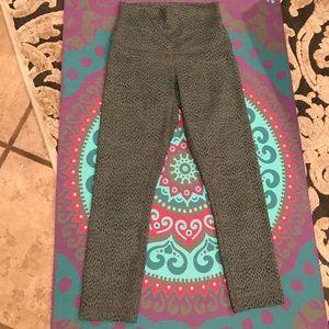 Lululemon grey and black leggings. NWOT