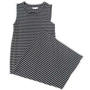 Madewell Striped Long Sleeveless Dress
