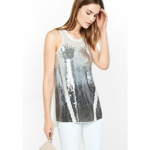 Stunning ombre sequined Express tank
