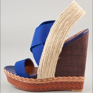 Isabella elastic strap wedge