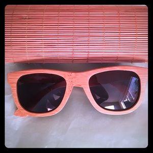 Bamboo Polarized Wayfarer Sunglasses
