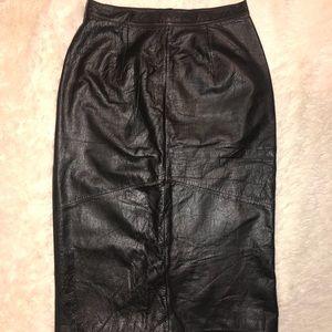 VINTAGE: Leather Skirt