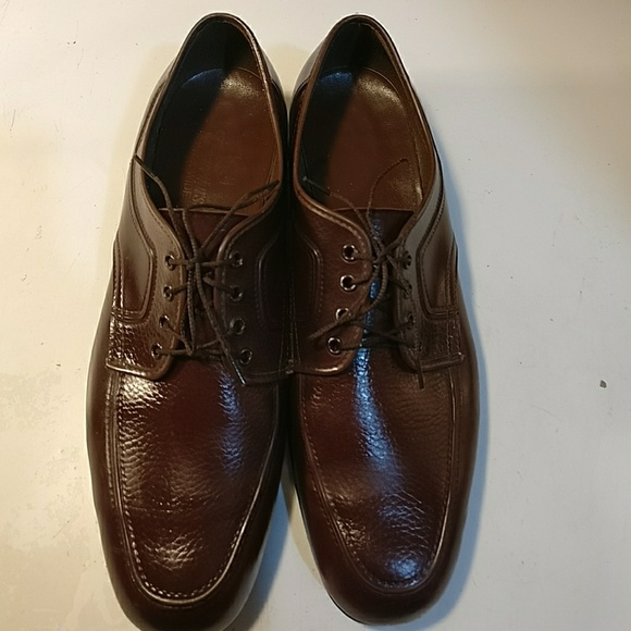 Chancellors Wide Mens Sz 10 Brown Lace Tie Up Shoes Dress Gently Worn