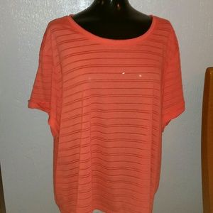 New cute coral top