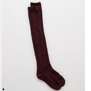 New Aerie Cable Knit Over the Knee Socks