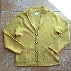 super popular newest best place Yellow Vintage Pierre Cardin Cardigan