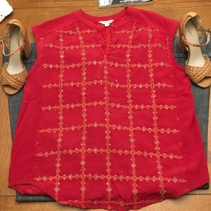 Beautifully Beaded Lucky Brand Blouse