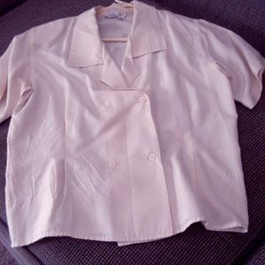 Vintage Double Breasted Silk Blouse from Talbots