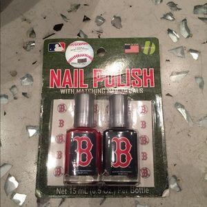 Boston Red Sox nail polish kit