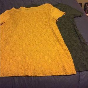 LOFT outlet lace front t-shirts