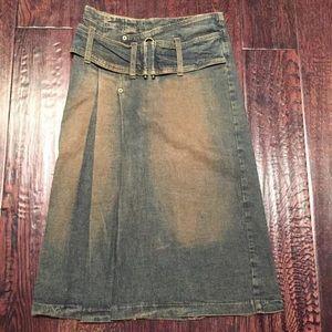 Bebe Jean Skirt