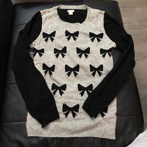 J crew bow sweater small