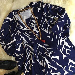 Diane Von Fustenburg vintage swing tunic