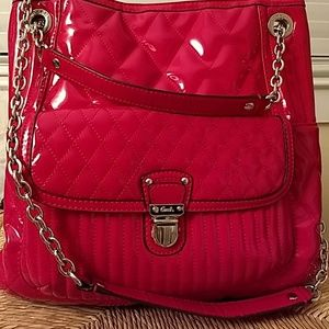 Hot Pink Quilted Paten Leather Coach Purse