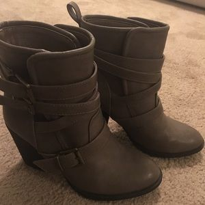 Taupe Booties - 7.5