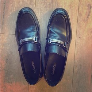 Calvin Klein black loafers size 10