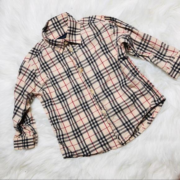 burberry baby boy shirt