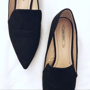 🖤💙 Z A R A Basic Black Pointed Metal Toe Flats
