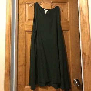 H&M hunter green swing dress