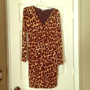 Cheetah print dress by Jennifer Lopez