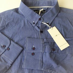 MENS Plaid Button Down Dress Shirt