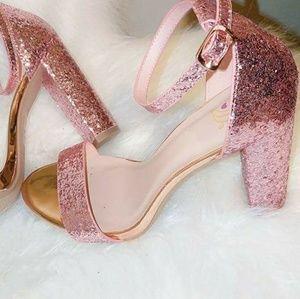 Sexy glitter pink high heels