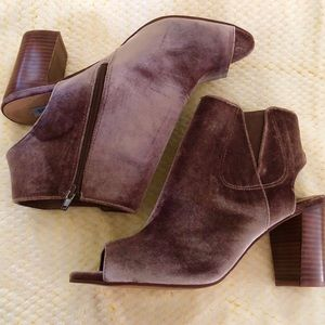 New Steve Madden velvet Notedd-v booties