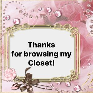 Thanks for browsing my Closet!