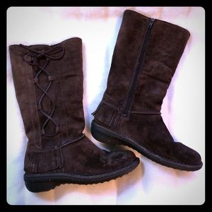 UGG brown suede boots, size 7