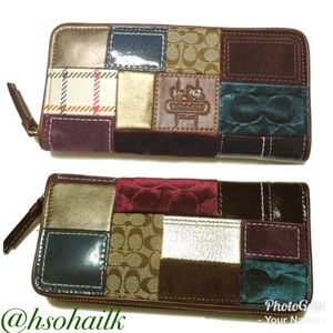 Authentic Coach Patchwork wallet
