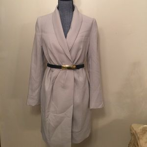 H&M nude long coat with a belt