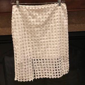 Woman's white skirt
