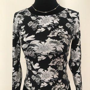 H&M floral print 3/4 sleeve top