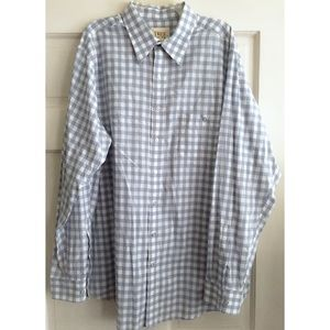 MENS Check Print Button Down Shirt