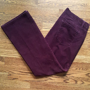 Loft Modern Boot plum/burgundy red corduroy pants