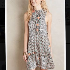 Anthropologie Maeve lilt swing dress orange XS