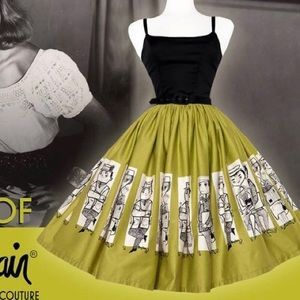 Pinup Girl Clothing Mary Blair Commuter Skirt 2XL